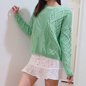Topshop bright green sweater